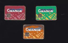 59899-lot De 3  Pin's..carte Orange.France Telecom..., - France Telecom