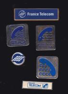 59901-lot De 6  Pin's.. Orange.France Telecom..., - France Telecom
