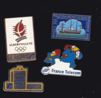 59903-lot De 4  Pin's.. Orange.France Telecom. - France Telecom