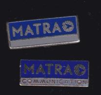 59908-lot De 2  Pin's.. Matra Communication - France Telecom