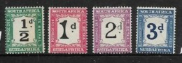 South Africa, Postage Due, 1927 - 28, 1/2d - 3d, MH * - South Africa (...-1961)