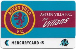 UK (Paytelco) - Football Clubs - Aston Villa Logo - 3PFLP - 5.900ex, Used - Ver. Königreich