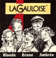 SOUS BOCK - LA GAULOISE - BLONDE BRUNE AMBREE /LOT1 - Sous-bocks