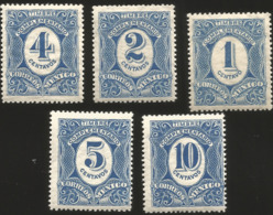 J) 1908 MEXICO, COMPLEMENTARY STAMPS, SCOTT J1-J15, MULTIPLE STAMPS, MN - Mexico
