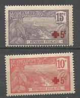 GUADELOUPE N° 75 Et 76 NEUF* CHARNIERE  / MH - Unused Stamps