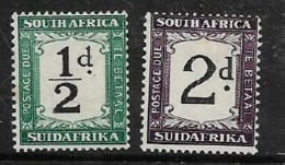 South Africa, Postage Due, 1927 - 28, 1/2d , 2d, MH * - South Africa (...-1961)