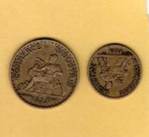 Chambres De Commerce 2 Pieces  ; 1921 50cent  - 1 Franc 1923 - France