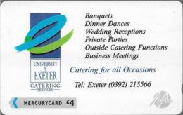 UK (Paytelco) - Exeter University Banquets 1 - 1PEXB - PYU009 (Paytelco On Back) - 10.500ex, Used - [ 4] Mercury Communications & Paytelco