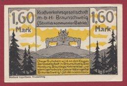 Allemagne 1 Notgeld De 1.60 Mark Stadt Brauschweig    (RARE) Dans L 'état N °4731 - Collections