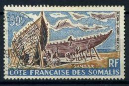 Côte Française Des Somalis 1964 Yv. 38 Oblitéré 100% Voiliers - Côte Française Des Somalis (1894-1967)