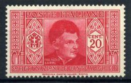 Italie Royaume 1932 Sass. 305 Neuf ** 100% Dante 20 C. - Nuevos