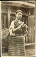 Bhutan, Native Bhutia Coolie Girl, Tibet Tibetan Necklace (1920s) Postcard - Bhutan