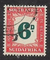 South Africa, Postage Due, 1950, 6D Used - South Africa (...-1961)