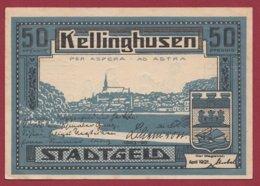Allemagne 1 Notgeld De 50 Pfenning Stadt Kellinghausen  (RARE) Dans L 'état N °4736 - Collections