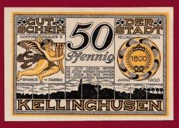 Allemagne 1 Notgeld De 50 Pfenning Stadt Kellinghausen  (RARE) Dans L 'état N °4737 - Collections