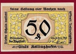 Allemagne 1 Notgeld De 50 Pfenning Stadt Kellinghausen  (RARE) Dans L 'état N °4738 - Collections