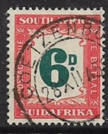 South Africa, Postage Due, 1950, 6D Used COETZENBU(RG) 28 XII 5- C.d.s. - South Africa (...-1961)