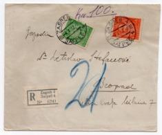 1932 YUGOSLAVIA, CROATIA, ZAGREB TO BELGRADE, P.E.N. CLUB, ZAGREB BRANCH, LETTER TO MEMBER, INCLUDED - Covers & Documents