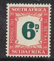 South Africa, Postage Due, 1950, 6D,  MH * - South Africa (...-1961)