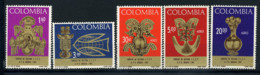 Colombie 1967 Mi. 1111-1115 Neuf ** 100% SEAC. UPU - Colombia