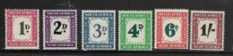 South Africa, Postage Due, 1950 - 1958, 1d - 1/-,  MH * - South Africa (...-1961)