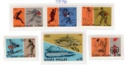 SPORT - OLYMPIC GAMES - 1976 -  GRECIA - Mi. Nr. 1240/1245 - NH - (6532-39) - Grecia