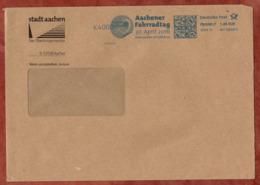 Grossbrief, FRANKIT Pitney Bowes 4D110.., Fahrrad In Aachen Fahrradtag.., 145 C, 2016 (79014) - BRD