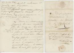 Franchise Delémont An 3 - 1795  Faux Assignats Mention Manuscrite Parti De Belfort ..... - Marcophilie (Lettres)