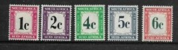 South Africa, Postage Due, 1961, 1c - 6c-,  MH * - South Africa (...-1961)