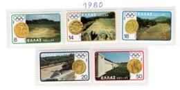 SPORT - OLYMPIC GAMES - 1980 -  GRECIA - Mi. Nr. 1421/25 - NH - (6532-39) - Grecia