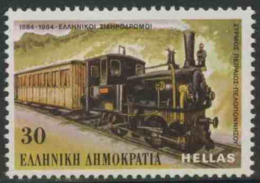 Greece Grece Hellas 1984 Mi 1566 YT 1542 ** Piraeus-Peloponnese Steam Train – Railway Centenary / Eisenbahn - Ongebruikt