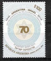 ARGENTINA 2019 ISRAEL 70°ANIV JUDAICA MNH - Neufs