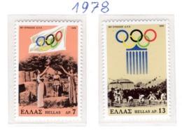 SPORT - OLYMPIC GAMES - 1978 -  GRECIA - Mi. Nr. 1312/13 - NH - (6532-39) - Grecia