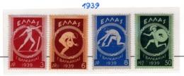 SPORT - OLYMPIC GAMES - 1939 -  GRECIA - Mi. Nr.  421/424 - LH - (6532-39) - Nuovi