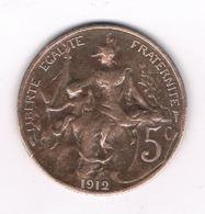 5 CENTIMES  1912 FRANKRIJK /6538// - C. 5 Centimes