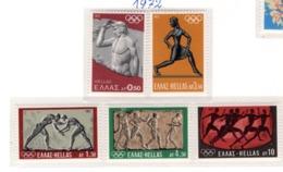 SPORT - OLYMPIC GAMES - 1972 -  GRECIA - Mi. Nr.  1114/18 - NH - (6532-39) - Grecia