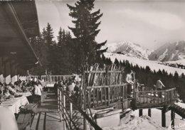 CPSM  74 (Haute Savoie) MEGEVE / DEJEUNER AU SOLEIL AU SOMMET DU MONT D'ARBOIS / ANIMEE - Megève