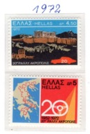 SPORT - OLYMPIC GAMES - 1972 -  GRECIA - Mi. Nr.  1108/109 - NH - (6532-39) - Grecia