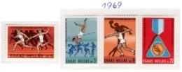 SPORT - OLYMPIC GAMES - 1969 -  GRECIA - Mi. Nr.  1006/08 - NH - (6532-39) - Grecia