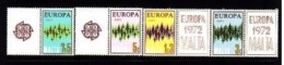 Malta, Europe Michel Number 450 - 453, 1972 4 V Stamps With Labels - 1972