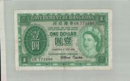 BILLET DE BANQUE   GOVERNMENT OF  HONGKONG 1  Dollar  1st JULY 1959 -sept  2019  Alb Bil - Hong Kong