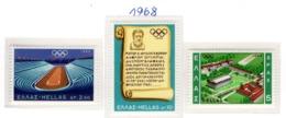 SPORT - OLYMPIC GAMES - 1968 -  GRECIA - Mi. Nr.  989/991 - NH - (6532-39) - Grecia