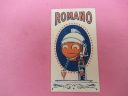 Petite Carte Commerciale/ Apéritif / ROMANO Cocktail/ ROMANO Turin/Vers1960  ?          VPN224 - Altri