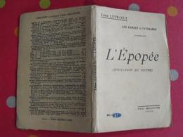 L'épopée. Les Genres Littéraires. Léon Levrault. 1925. Paul Mellotée - Boeken, Tijdschriften, Stripverhalen