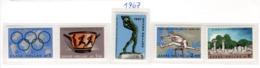 SPORT - OLYMPIC GAMES - 1967 -  GRECIA - Mi. Nr.  943/947 - NH - (6532-39) - Grecia