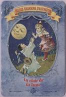Repro D'Affiches Publicitaires Vintage Sur Métal Émaillé (Effet Bombé) - Chansons Autrefois ''Au Clair De La Lune'' - Reclameplaten