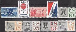 US   1958-61   Sc#C53-9, C62-3  Airmails MNH - 2b. 1941-1960 Nuevos