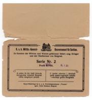 WWI AUSTRIAN OCCUPATION OF SERBIA, BELGRADE, K U K, CHARITY LOTTERY TICKET HELD IN HOTEL MOSCOW, BELGRADE - Serbia