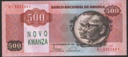 ANGOLA 1991, BILLETE 500 NOVO KWANZA UNC - Angola
