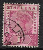 Saint Helena, QV, 1896, 1d Carmine, Used - Saint Helena Island